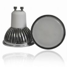GU10 4W LED BULB SPOT LAMPS IN ALUMINIUN SHELL WITH FROSTED COVER